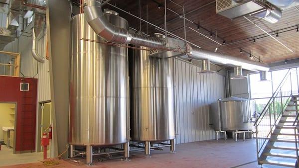 Brewery storage tanks