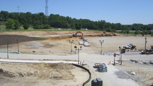 Installing storm sewer for Von Maur