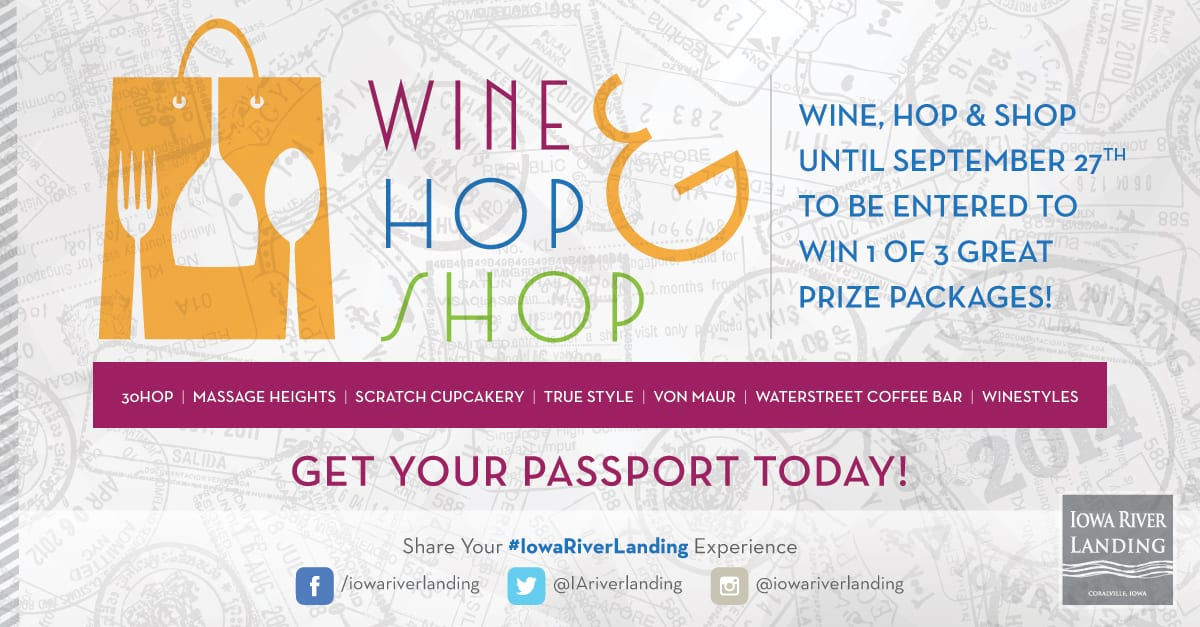 Wine, Hop and Shop | Iowa River Landing | Coralville, Iowa